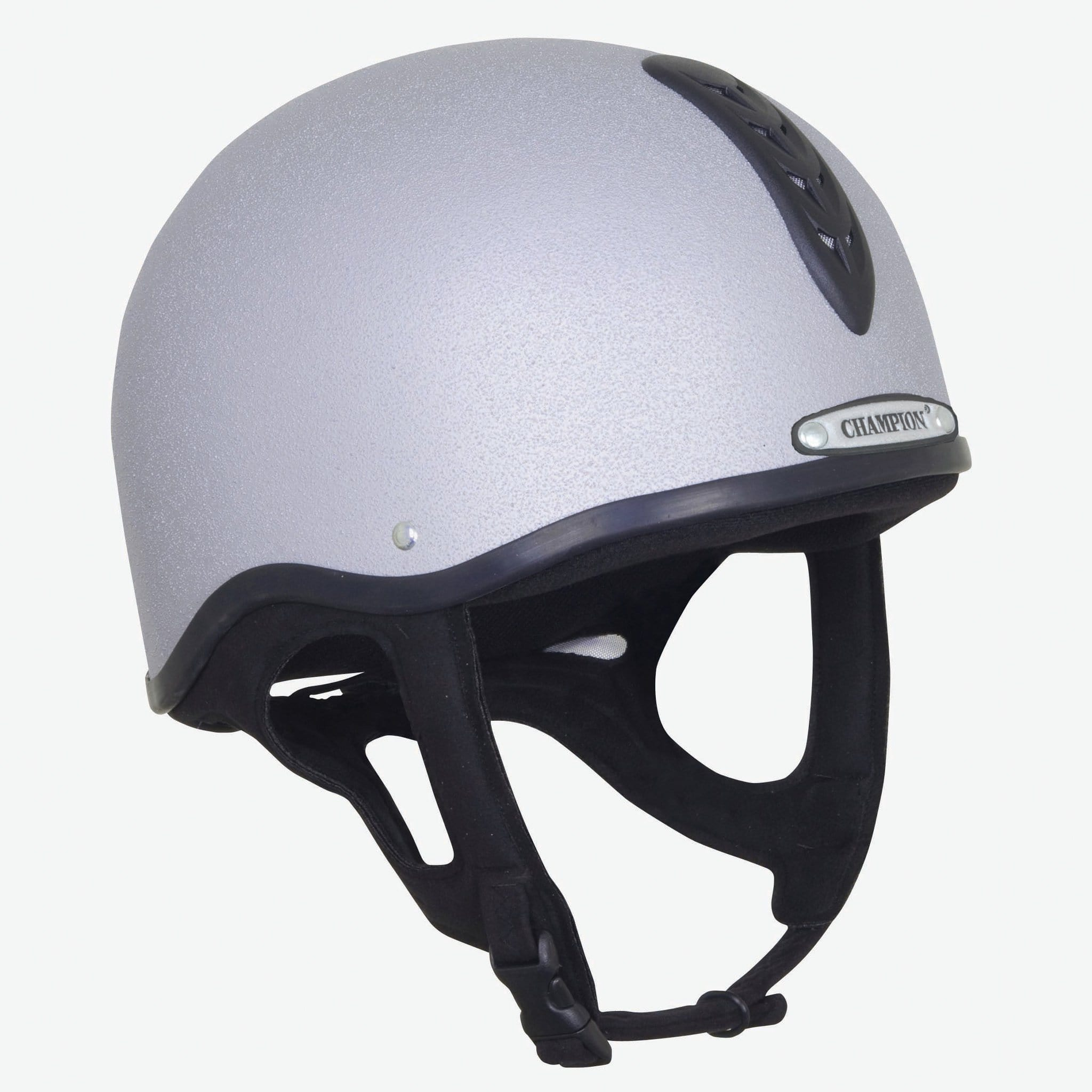 Champion Junior X-Air Plus Helmet Silver.