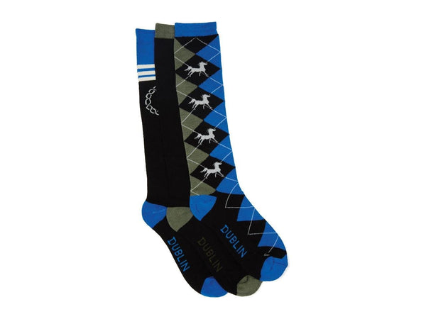 Dublin Crest Socks 3 Pack in Olive