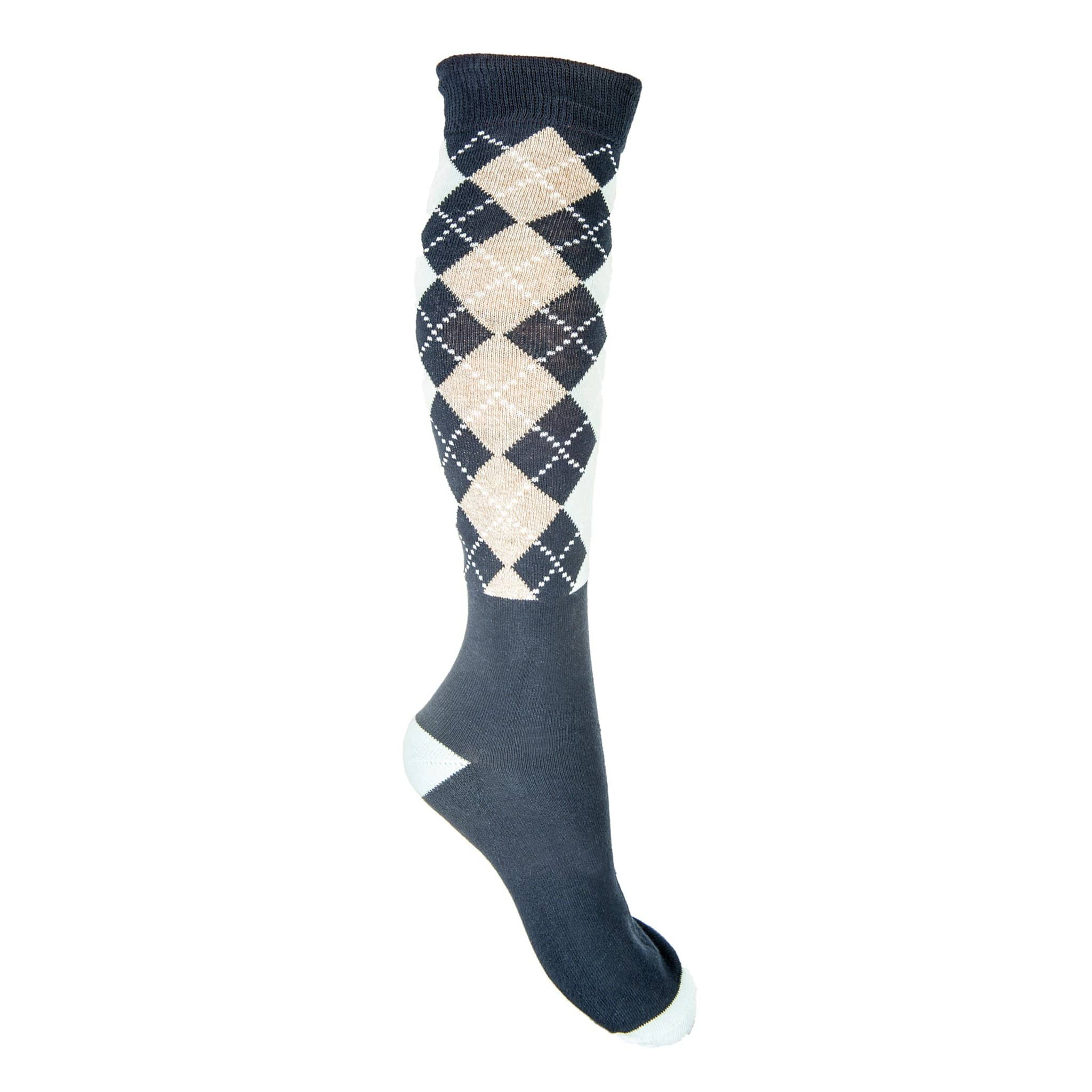 HKM Windsor Riding Sock in Baby Blue With Dark Blue