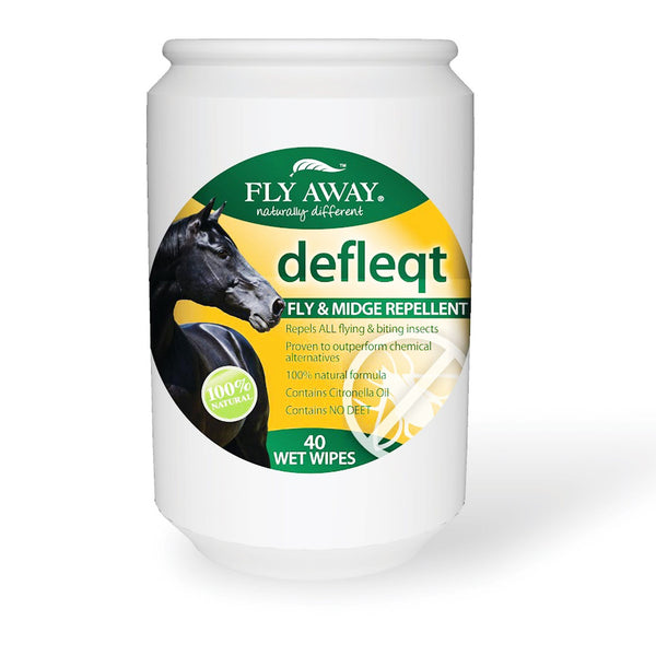 Fly Away Defleqt Fly And Insect Repellent 40 Wet Wipes 7059