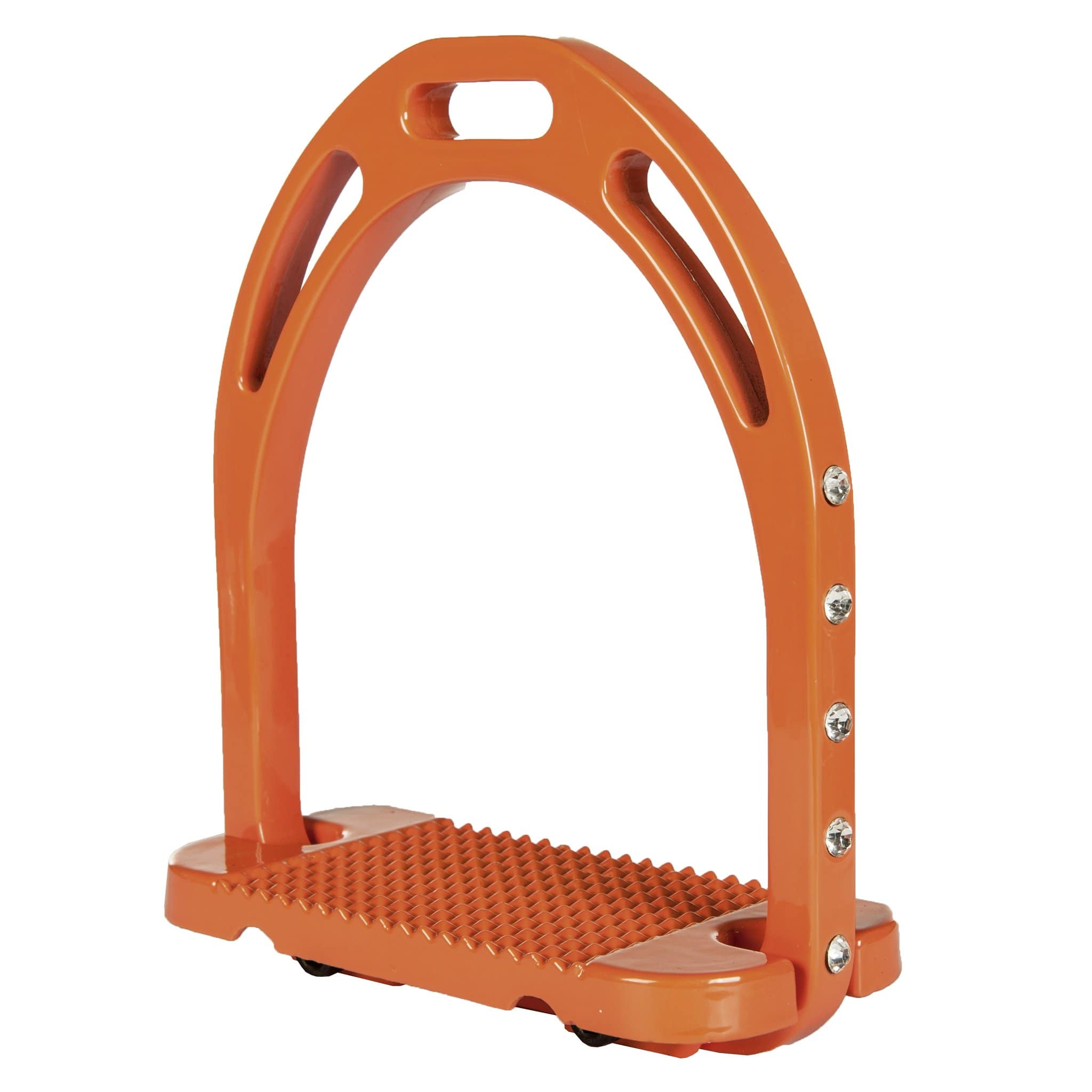 HKM Glitter Stirrups in Orange 7673