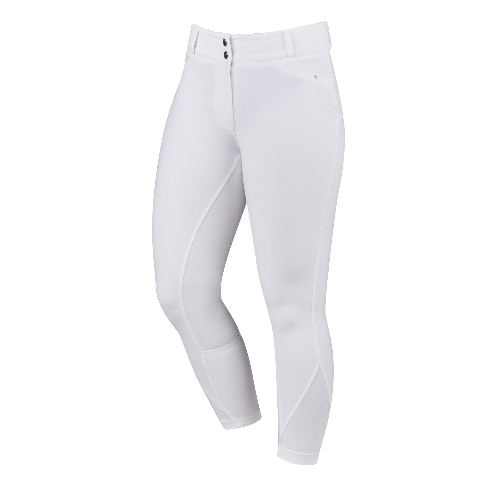 Dublin Pro Form Gel Silicone Full Seat Breeches White Front