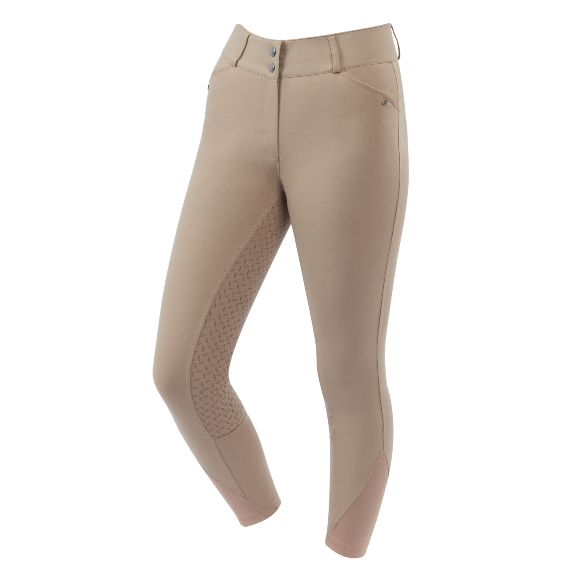 Dublin Pro Form Gel Silicone Full Seat Breeches Beige Front