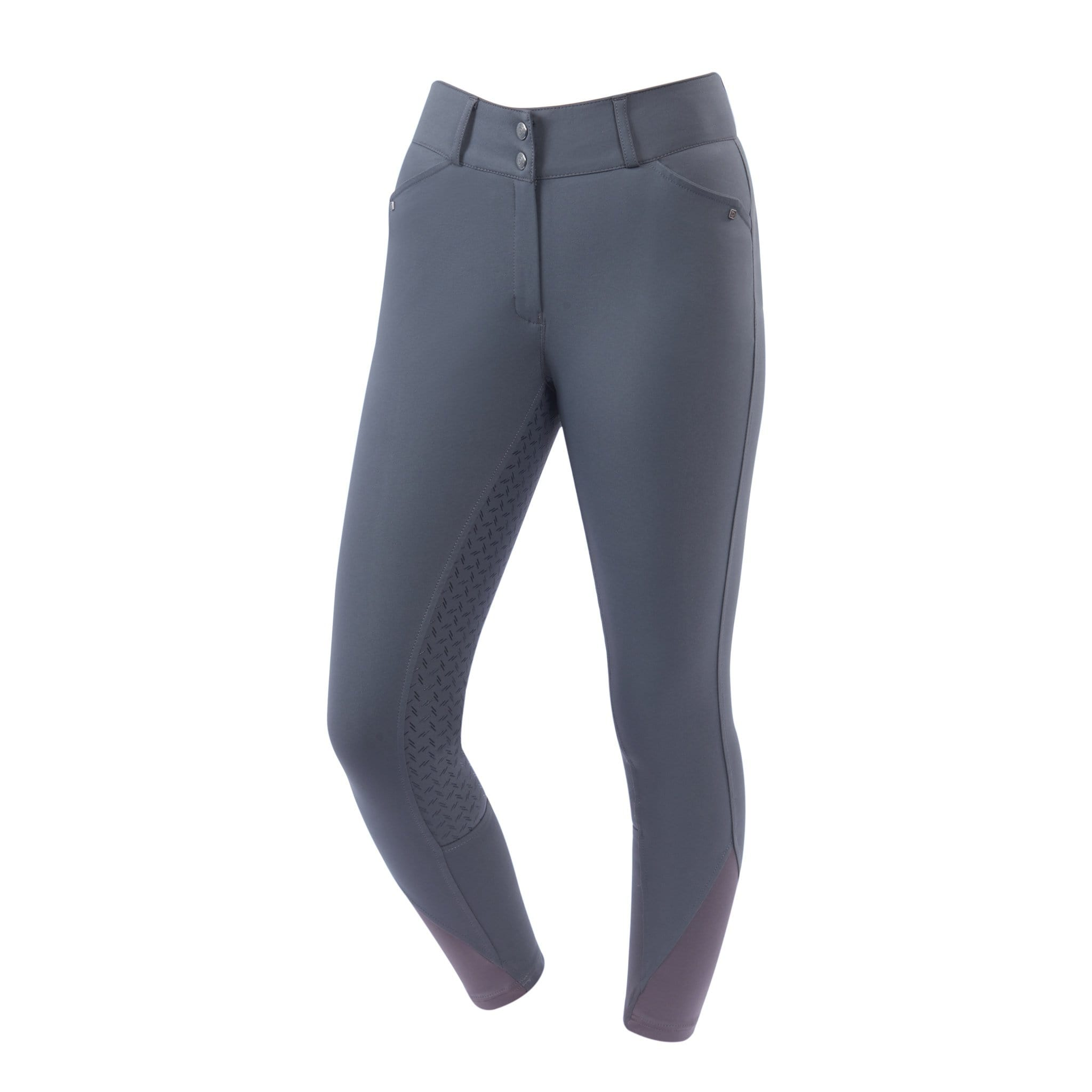 Dublin Pro Form Gel Silicone Full Seat Breeches Grey Front