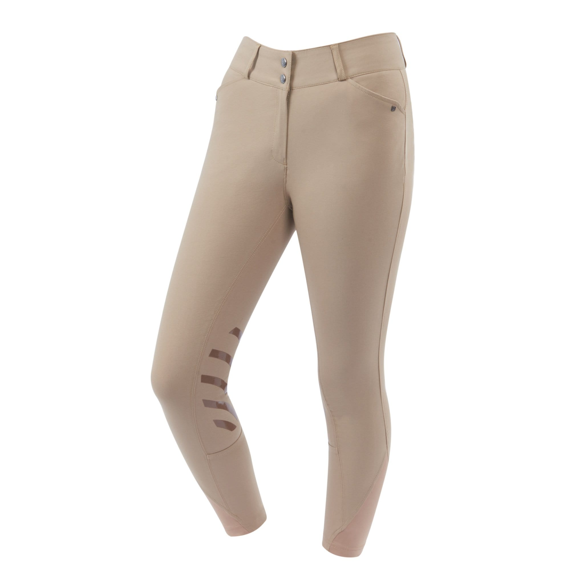 Dublin Pro Form Gel Silicone Knee Patch Breeches Beige Front
