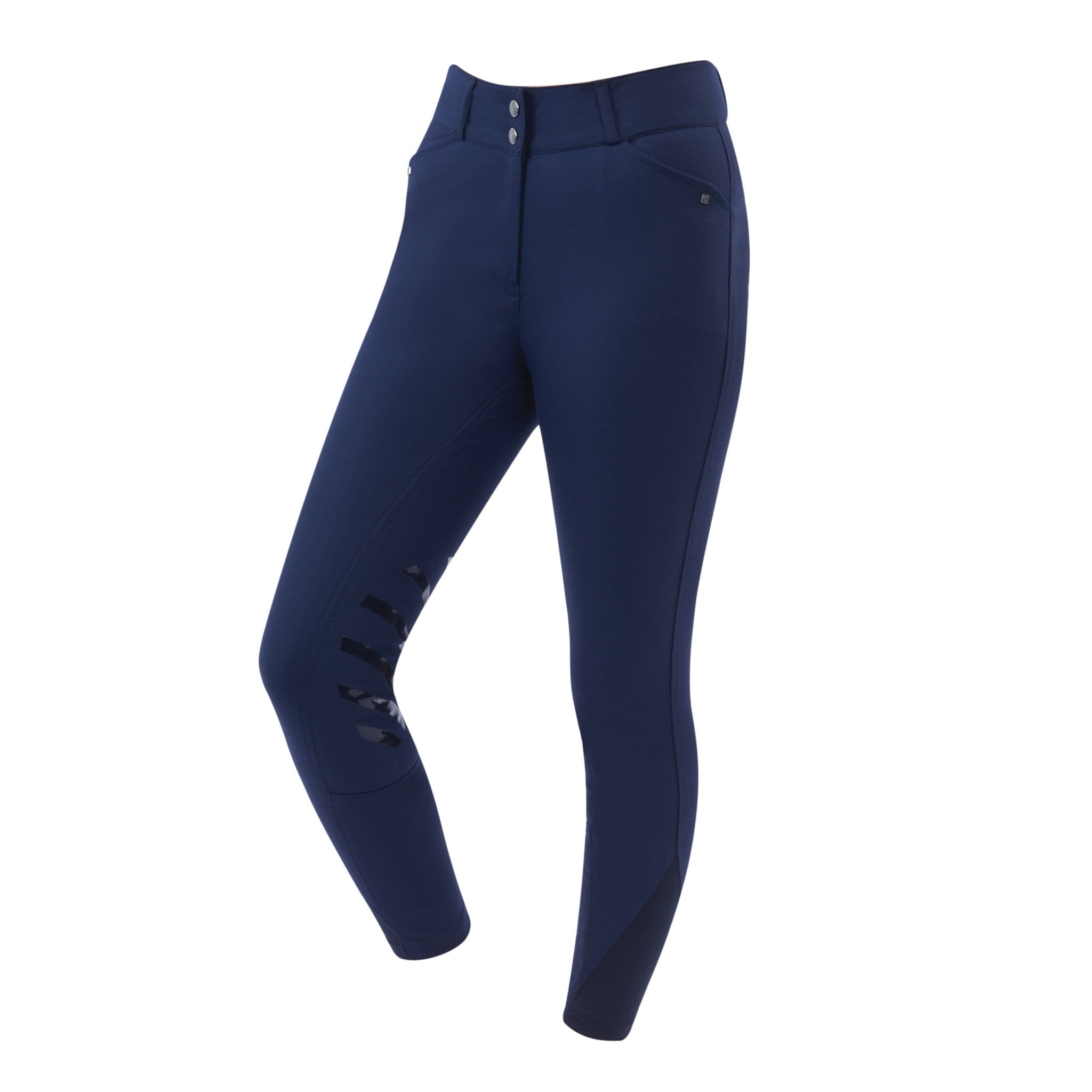 Dublin Pro Form Gel Silicone Knee Patch Breeches Navy Front
