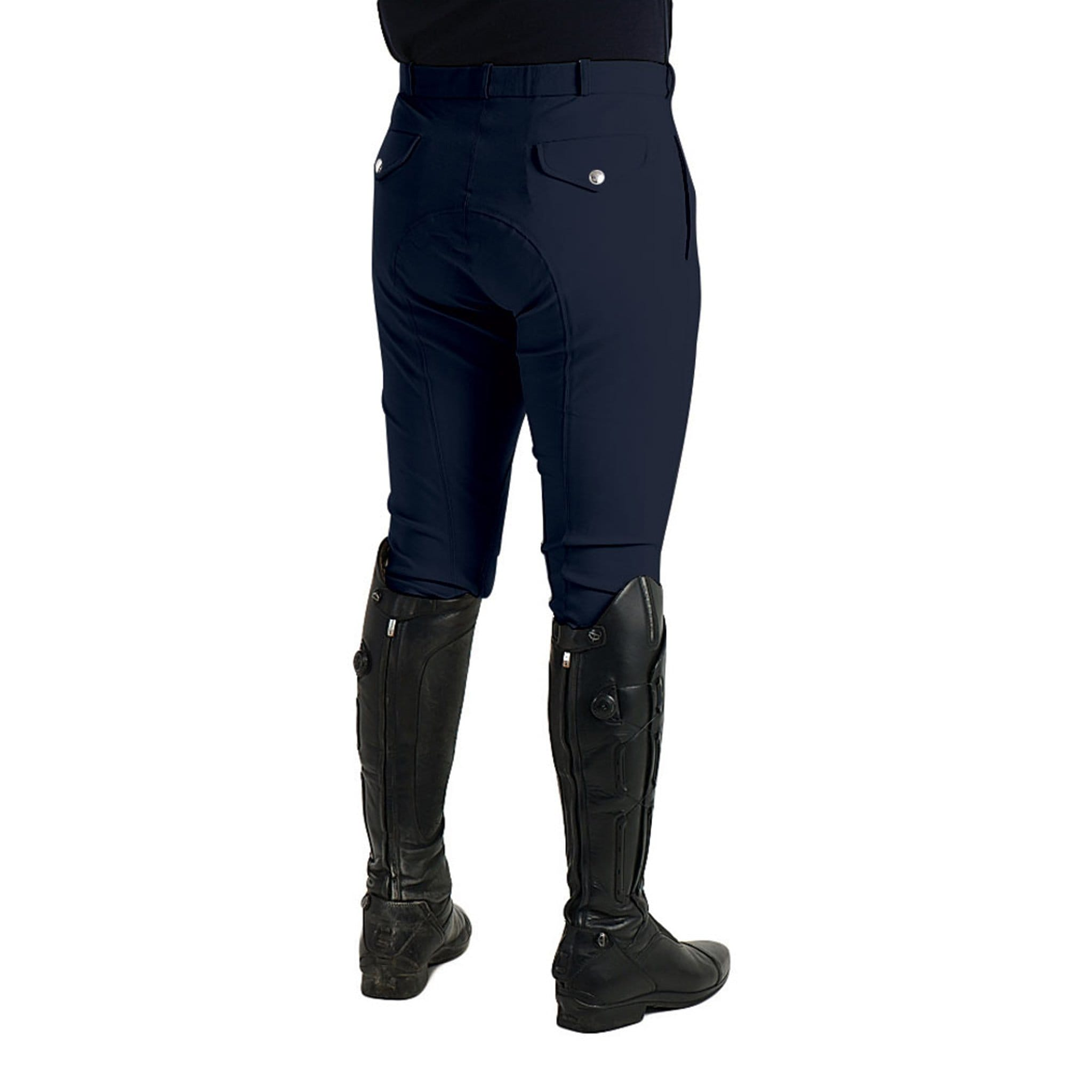 HyPerformance Men's Jakata Alos Knee Patch Breeches Navy Rear