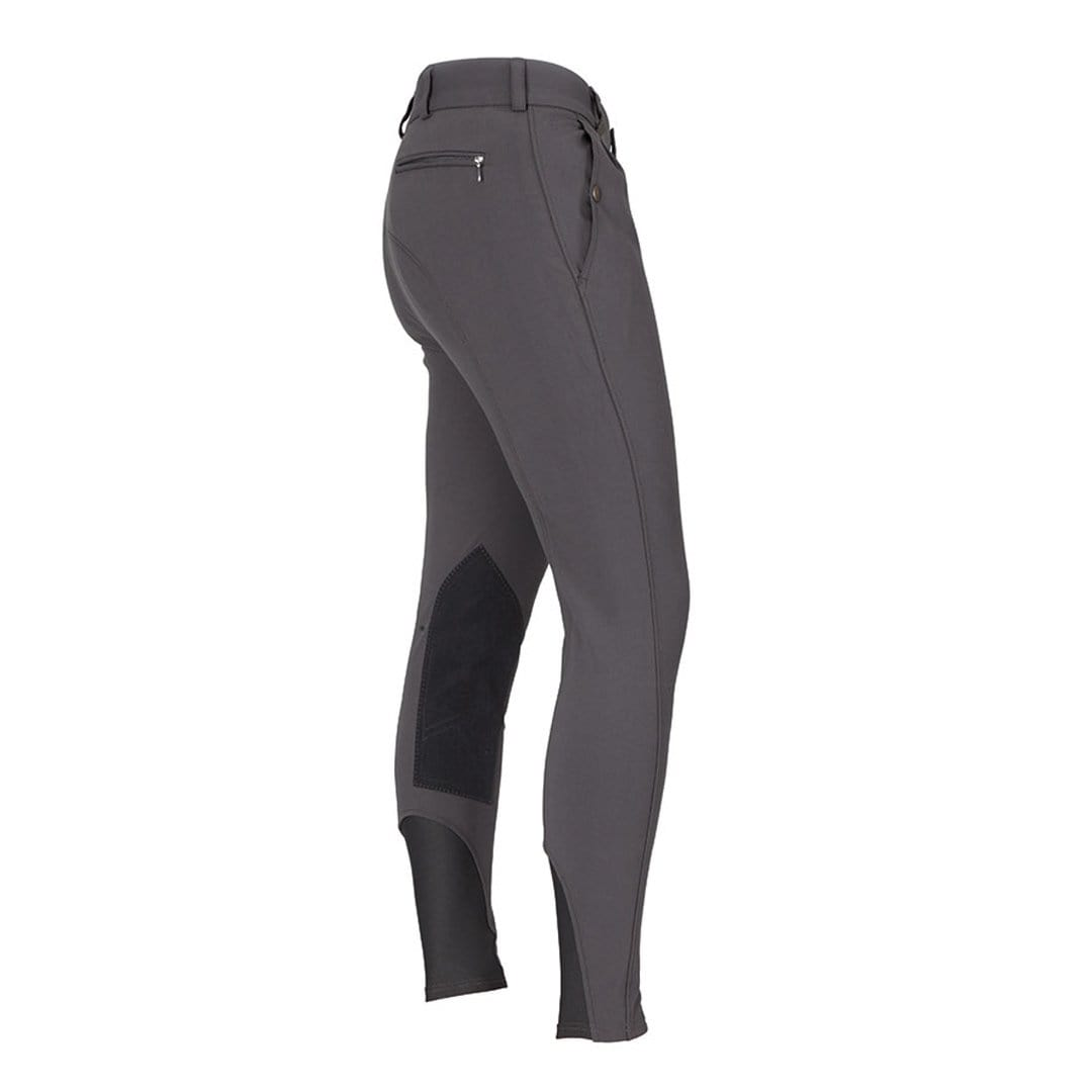 Shires Men's Performance Stratford Alos Knee Patch Breeches Grey 8790.