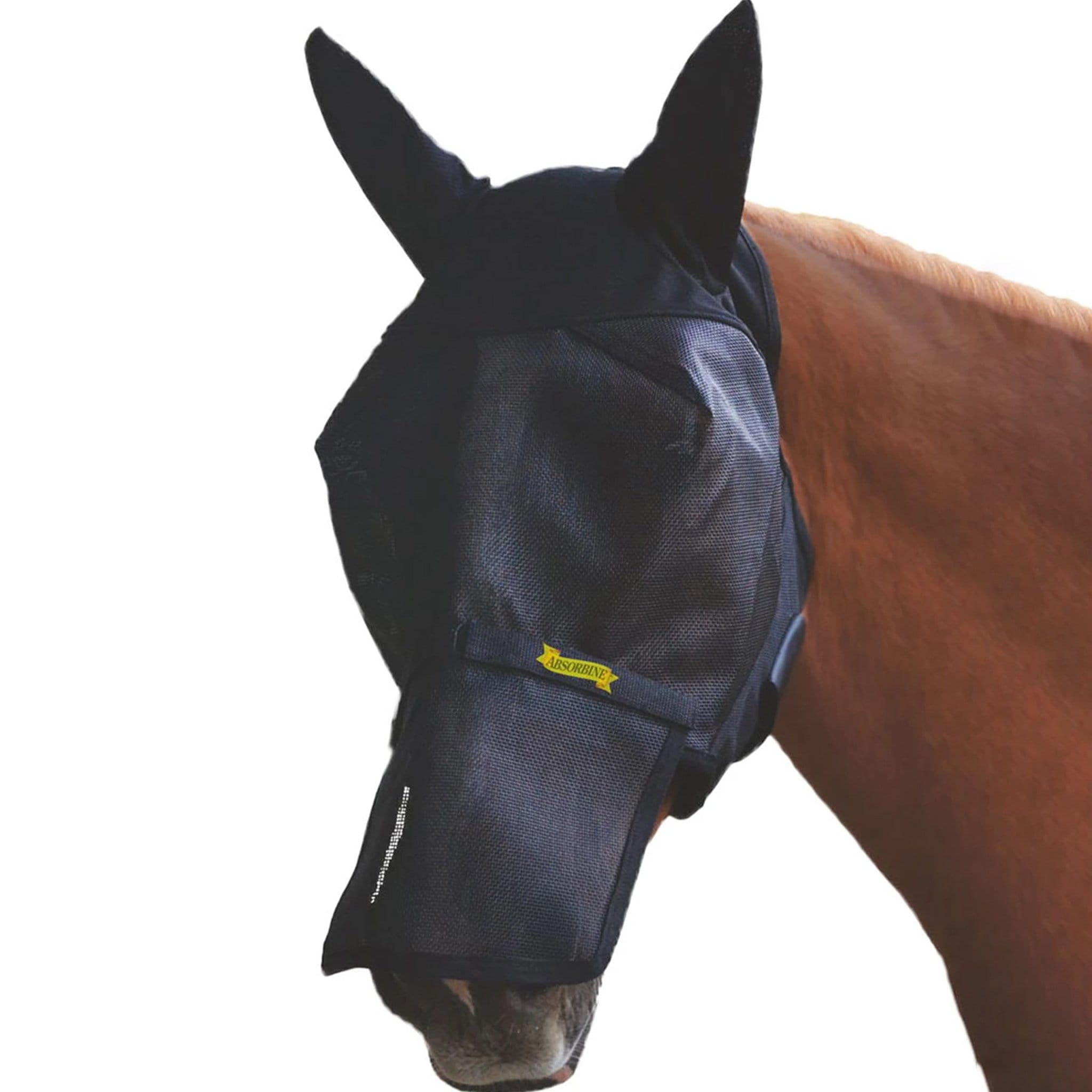 Absorbine Ultrashield Fly Mask with Removable Nose 17076.