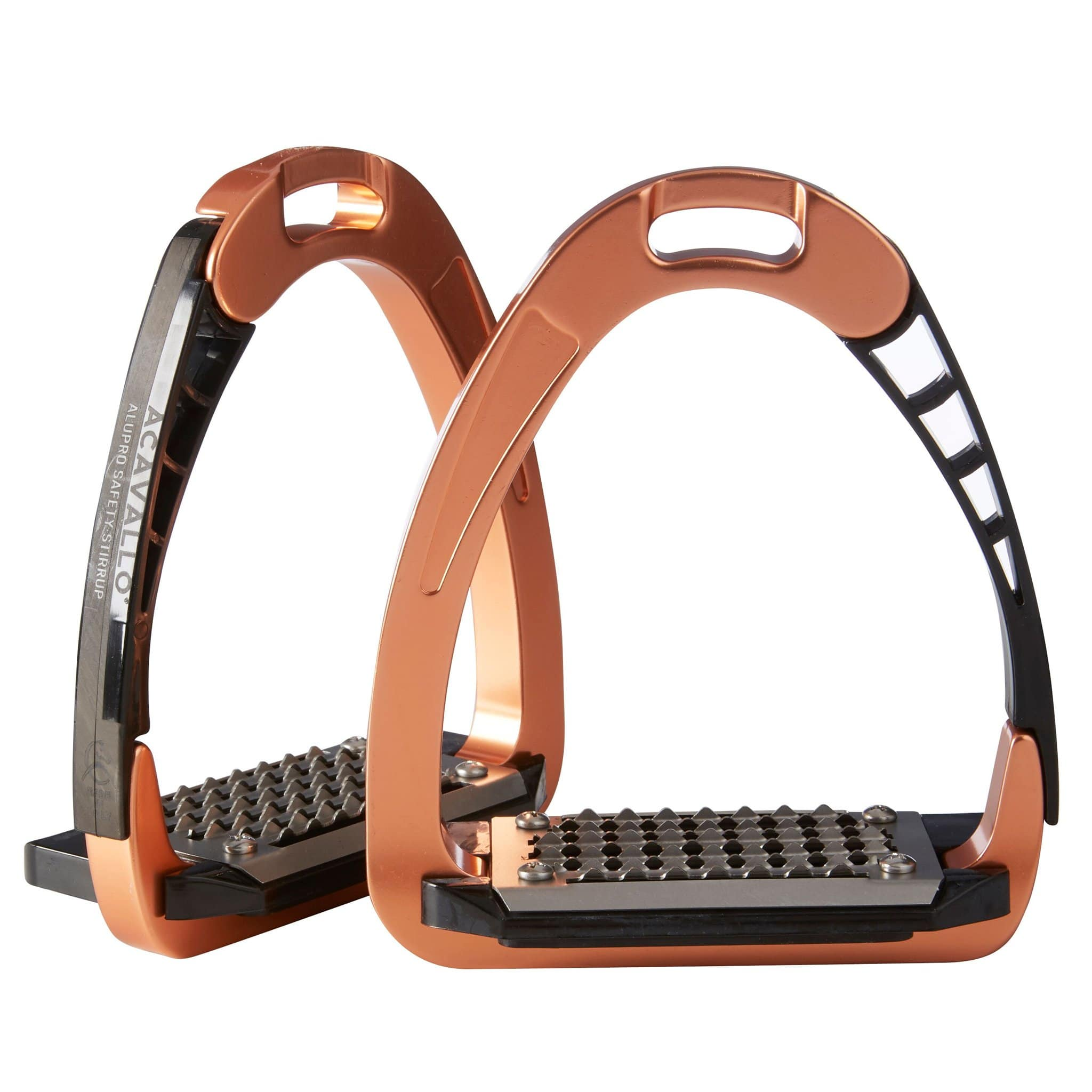Acavallo Arena Alupro Safety Stirrups Rose Gold 7894