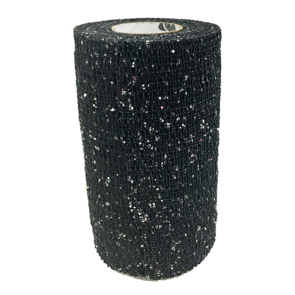 Andover Powerflex Glitter Bandages Black AND0165