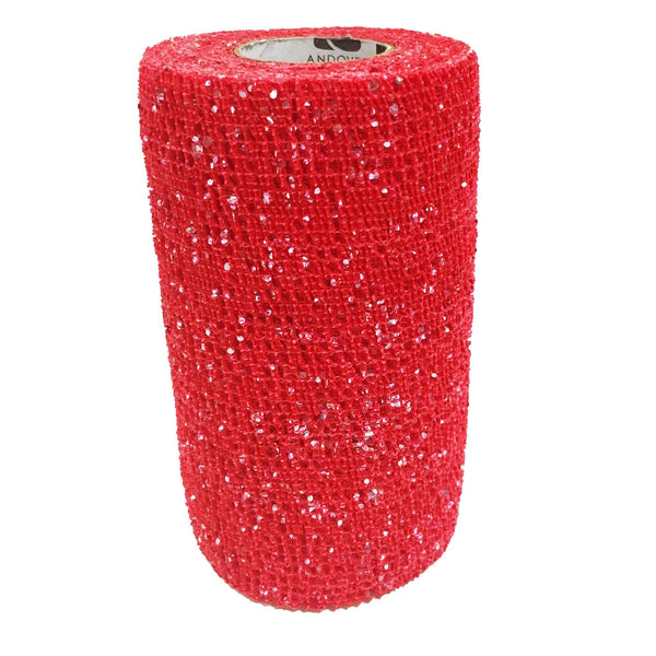 Andover Powerflex Glitter Bandages Red AND0180
