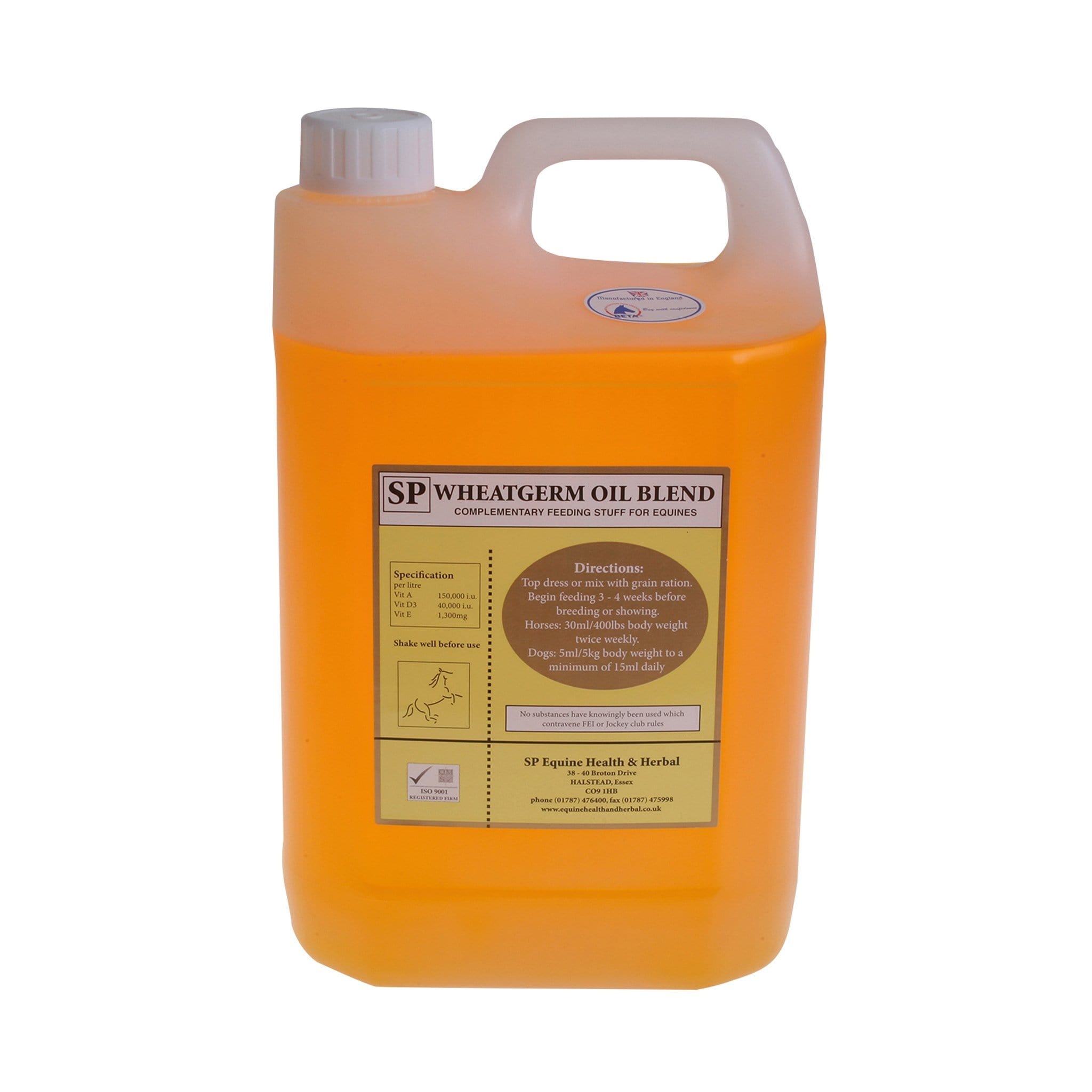 Animal Health Company Wheatgerm Oil Blend 4L SPE0086.