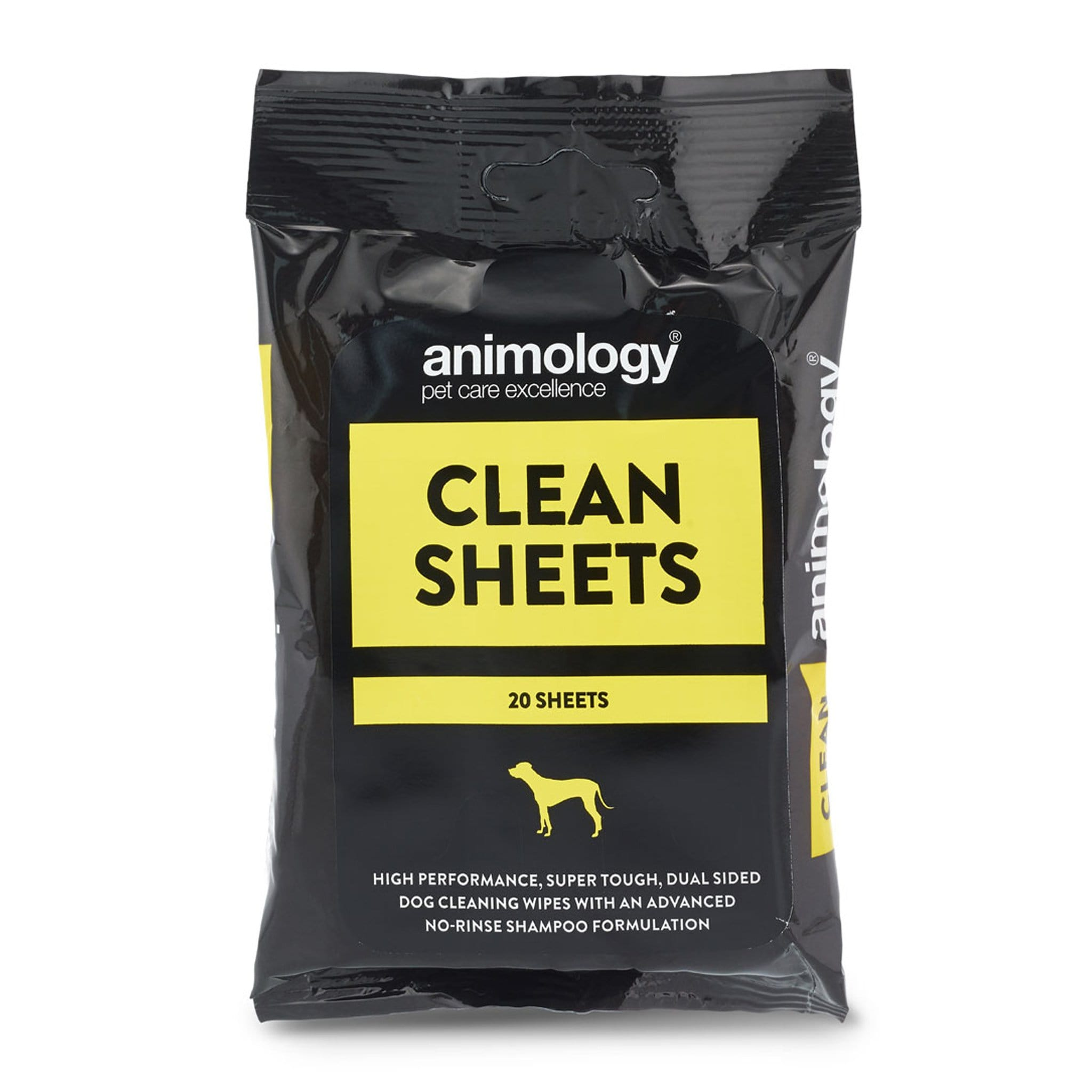 Animology Clean Sheets Dog Cleaning Wipes 11442 20 Pack Sealed