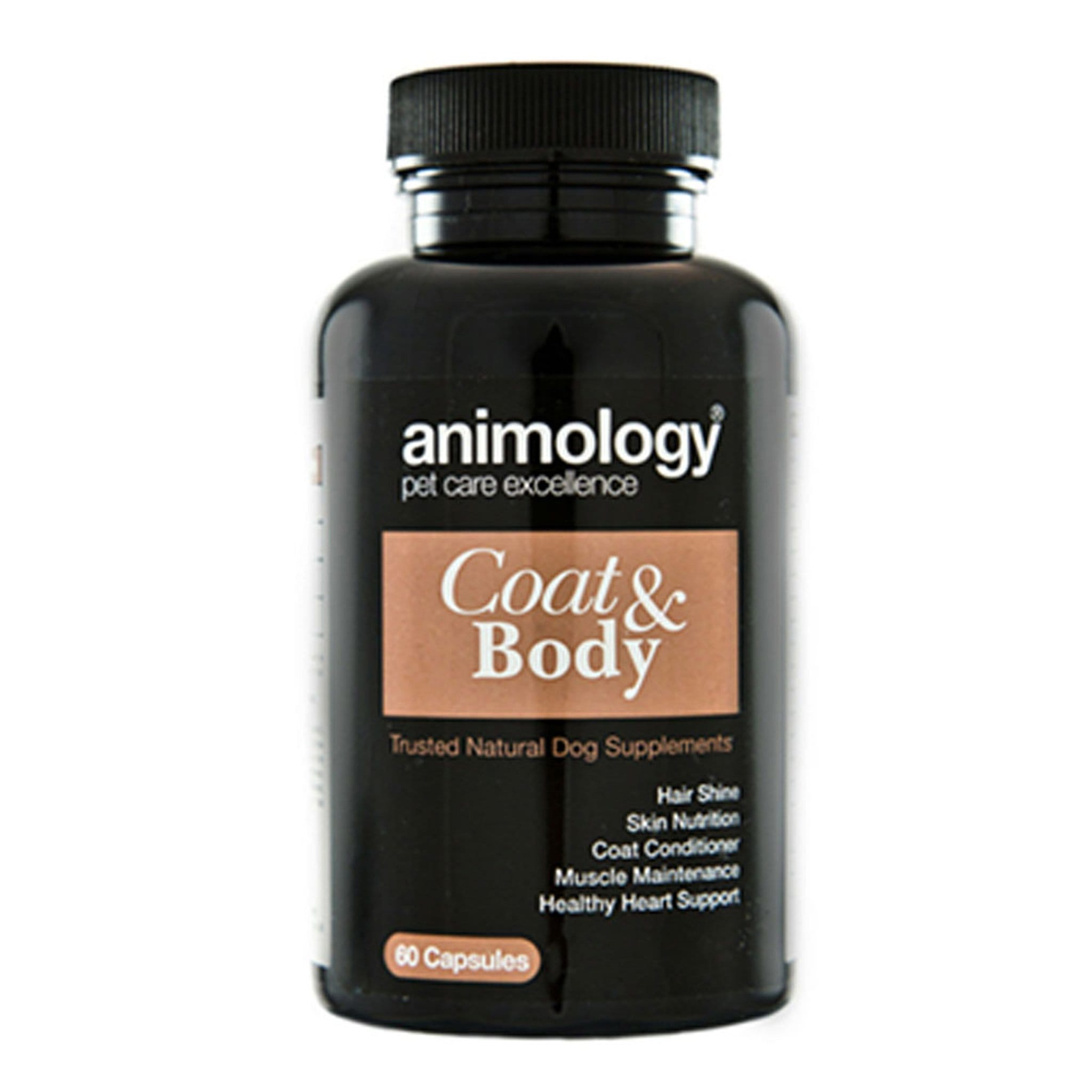 Animology Coat & Body Dog Supplement 17118 60 Capsules