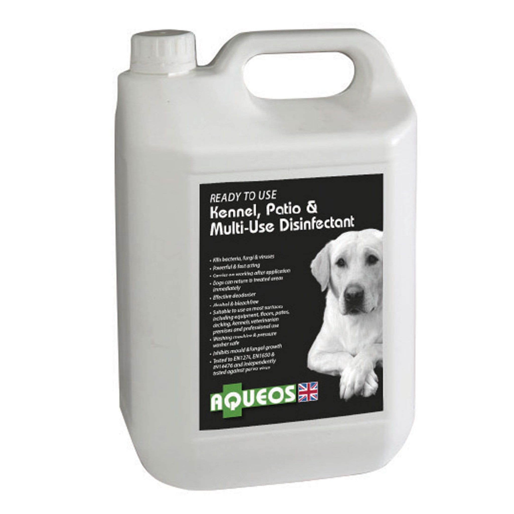 Aqueos Canine Ready To Use Disinfectant 5 Litre 10021