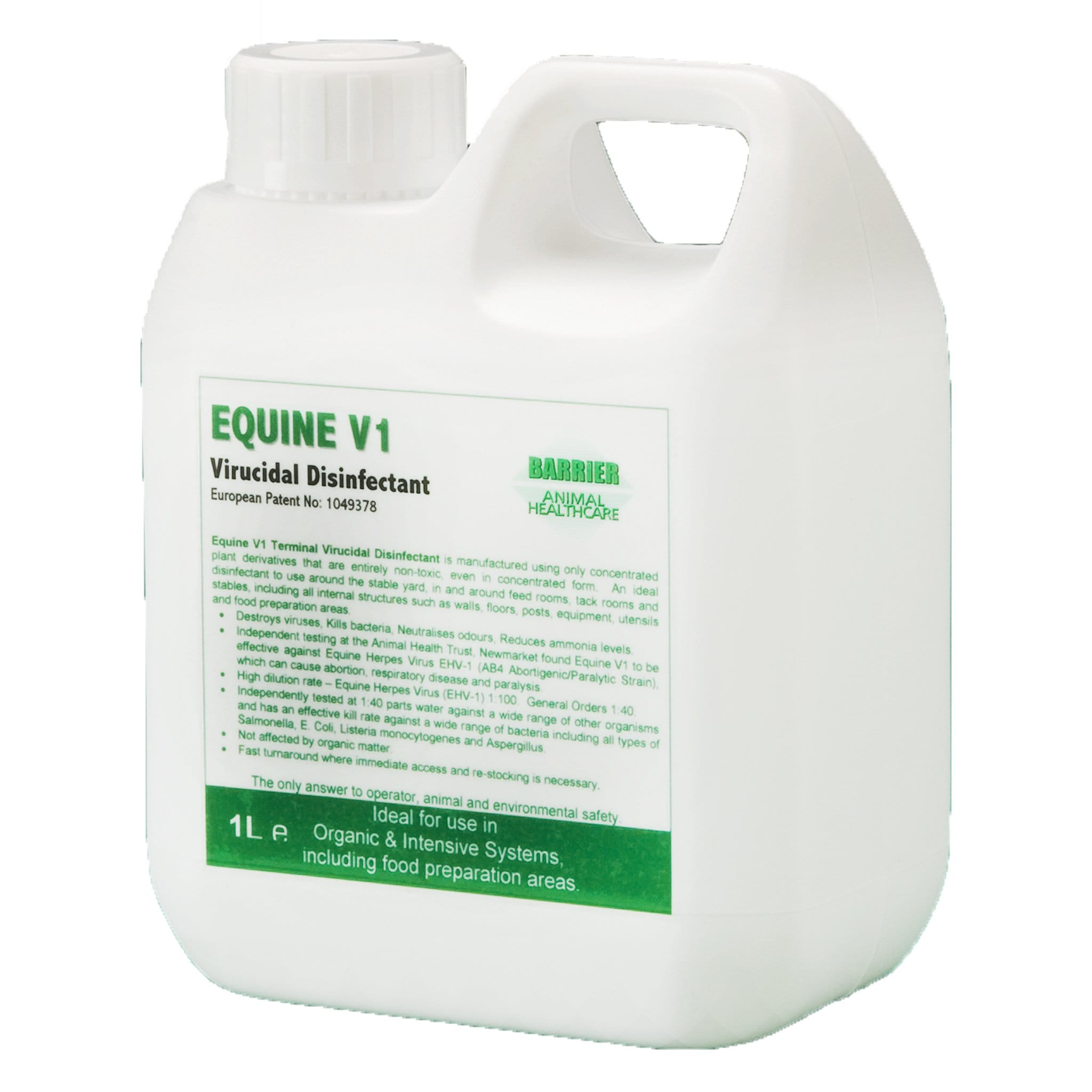 Barrier Equine V1 Virucidal Disinfectant 8492