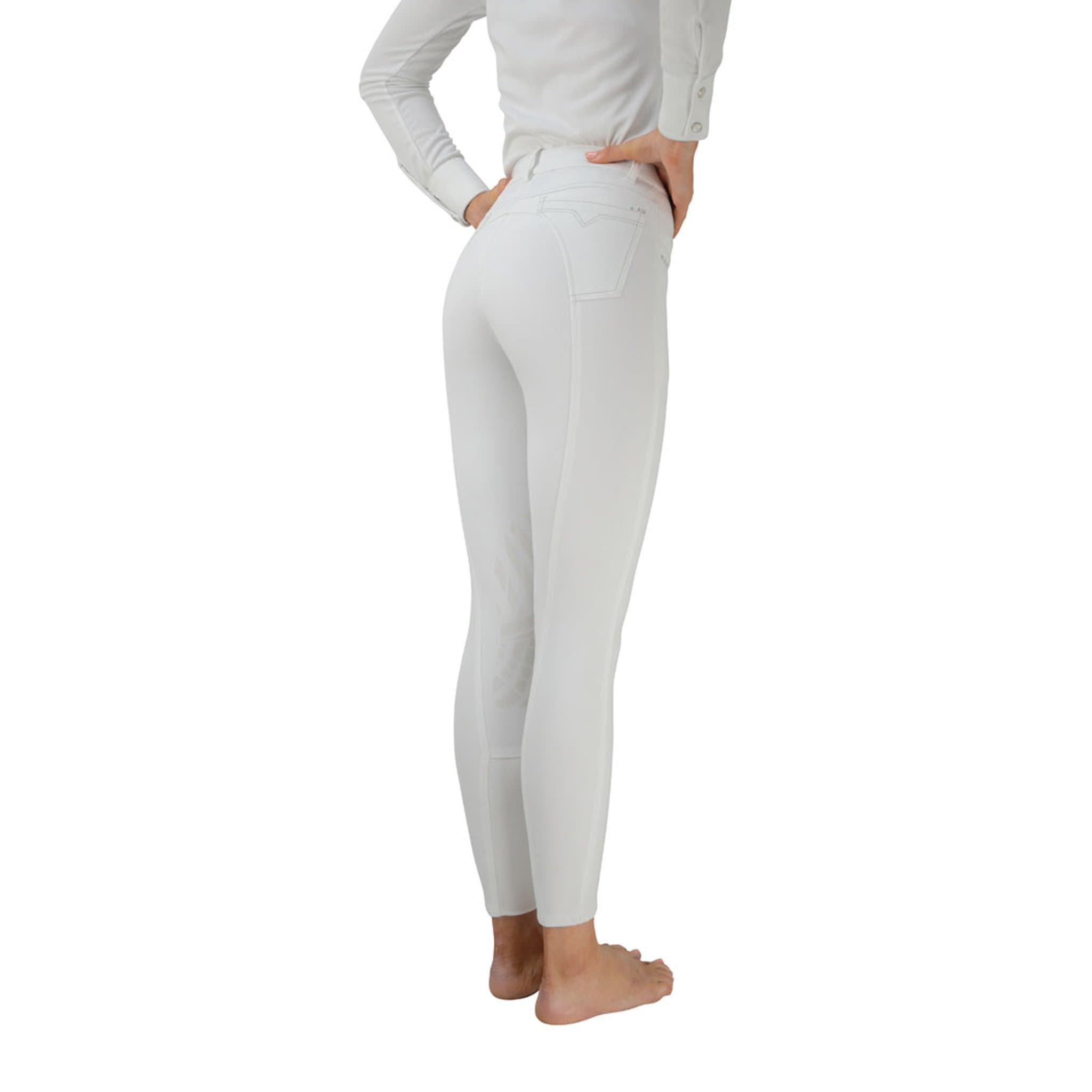 "HyPerformance Corby Cool Silicone Knee Breeches - 26"" (UK 10) - White"