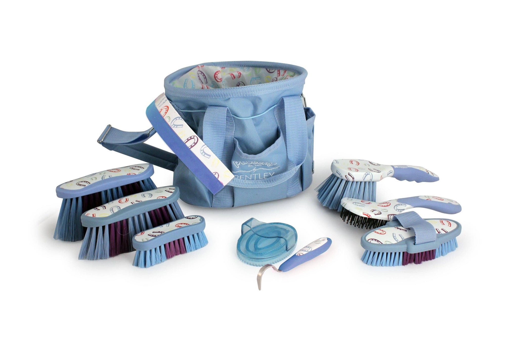 Bentley Patterns Horse Shoe Grooming Set Blue SPN1200