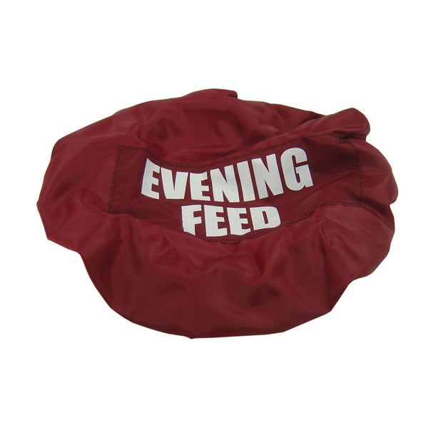 Bitz Evening Feed Bucket Cover Burgundy TRL7526