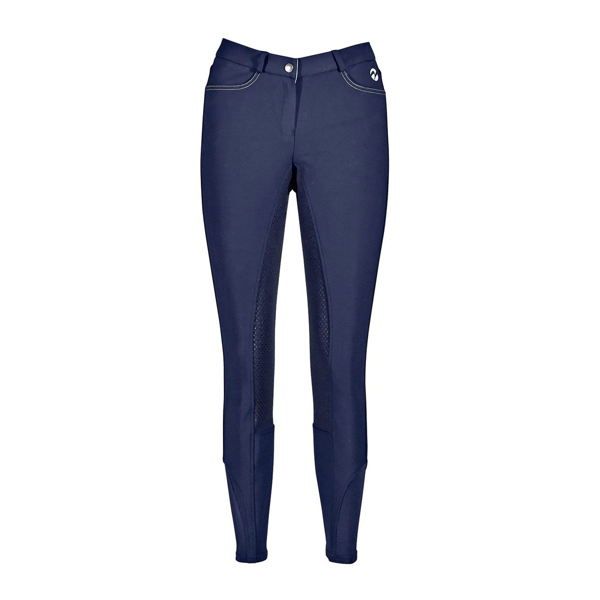 Busse Alicante Breeches Navy Studio Front View 710061