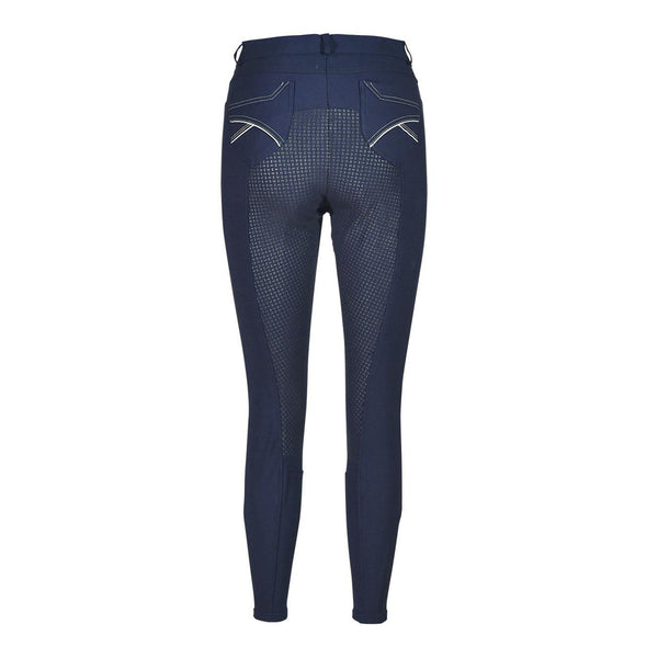 Busse Alicante Breeches Navy Studio Rear View 710061