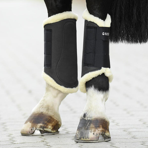 Busse Art-Fur Brushing Boots Black on Hind Legs 605544