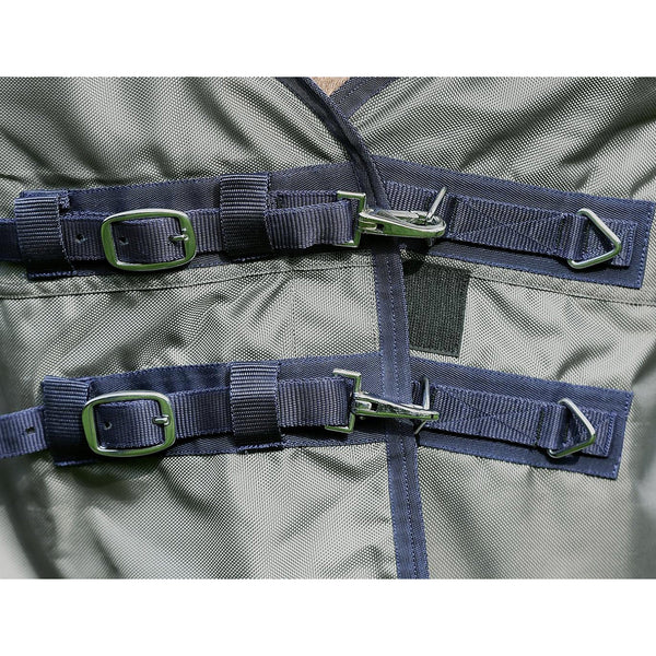 Busse Astana Winter 300 Thermo Turnout Rug Olive Chest Fastenings 603098