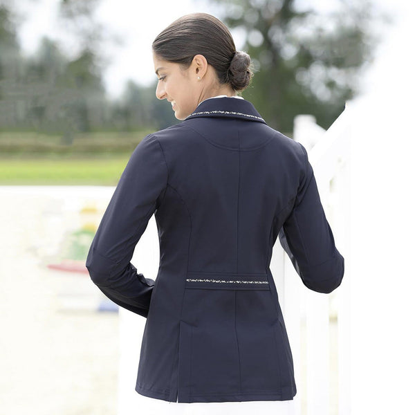 Busse Dortmund Show Jacket Navy Lifestyle Rear View 760200