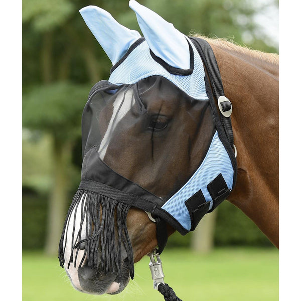 Busse Fransen Fly Mask Blue 633028