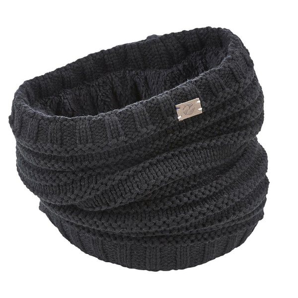 Busse Knitted Snood in Black 719337