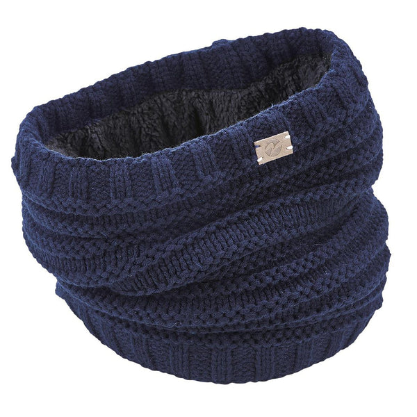 Busse Knitted Snood in Navy 719339
