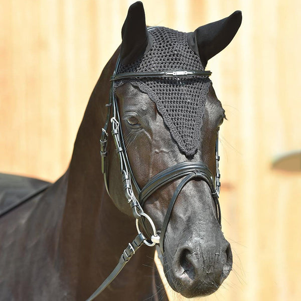 Busse Profi Uni Jersey Fly Veil in Black worn by Horse 699911