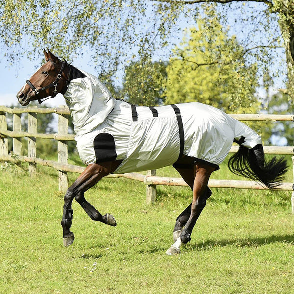 Busse Strong Eczema Rug Silver Galloping Horse Side View 603019