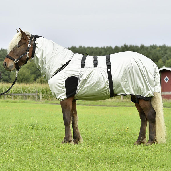 Busse Strong Eczema Rug Silver Small Pony Side View 603019