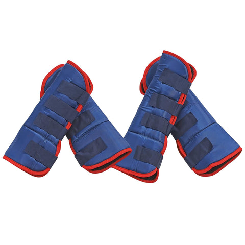 Busse Travel Boots in Blue and Red