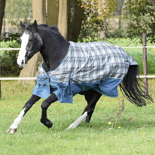 Busse Turn Fleece Turnout Rug Petrol Galloping Horse 603264