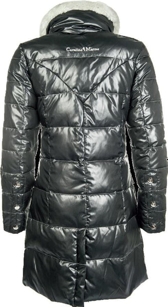 Cavallino Marino Atlantis Long Down Jacket in Navy