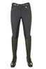 HKM Cavallino Marino Verona Ladies Pink Braid Breeches in Navy Front View