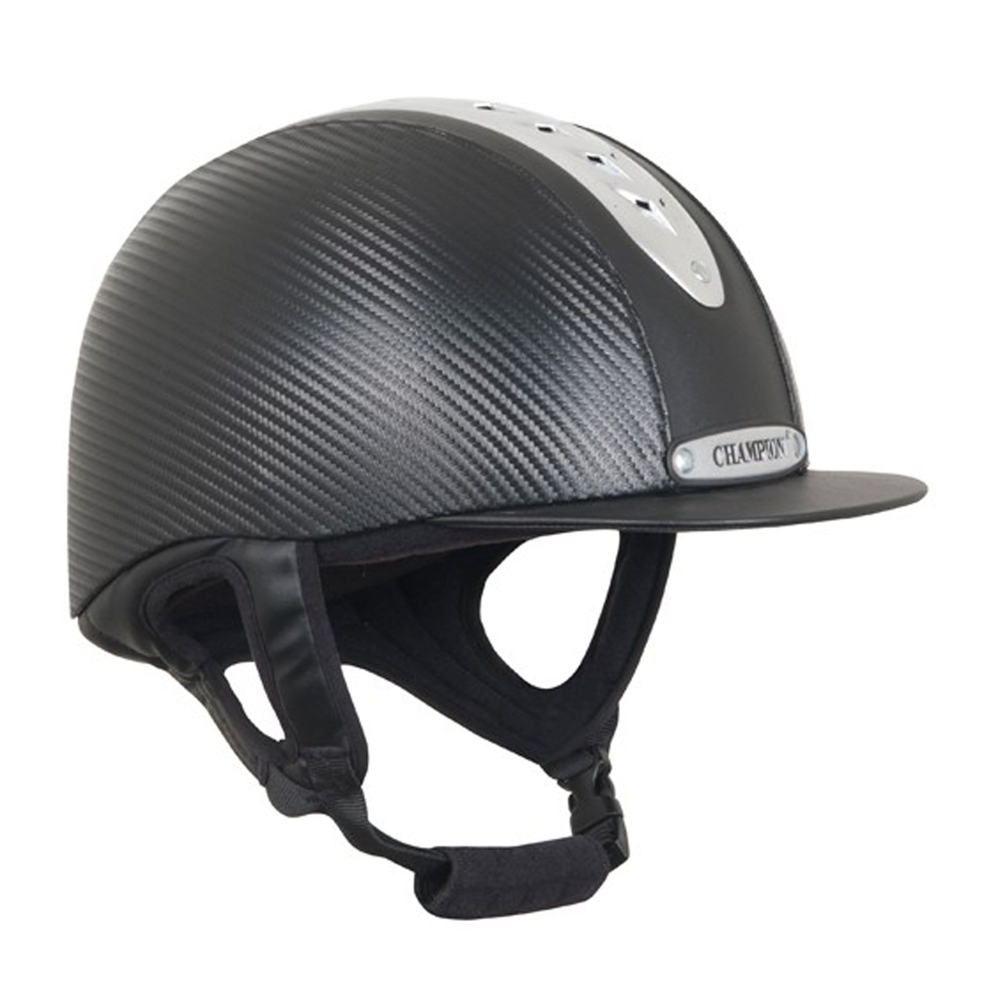 Champion Evolution Pro Riding Hat Right Side EVOPROCARBBK-51.
