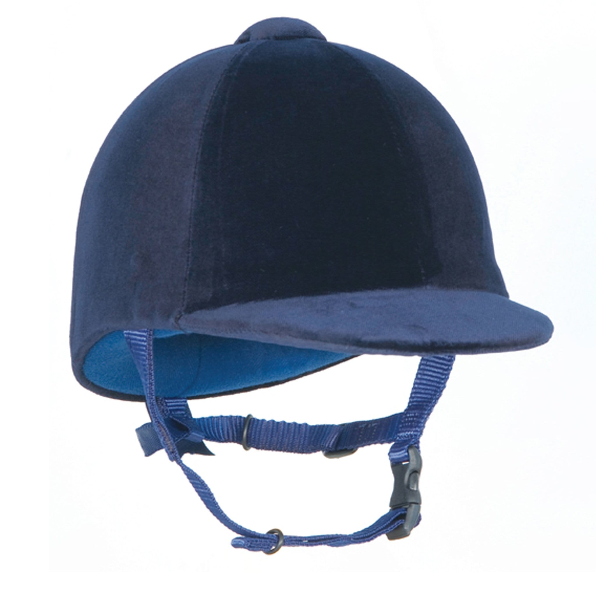 Champion CPX3000 Junior Riding Hat Front View Navy.