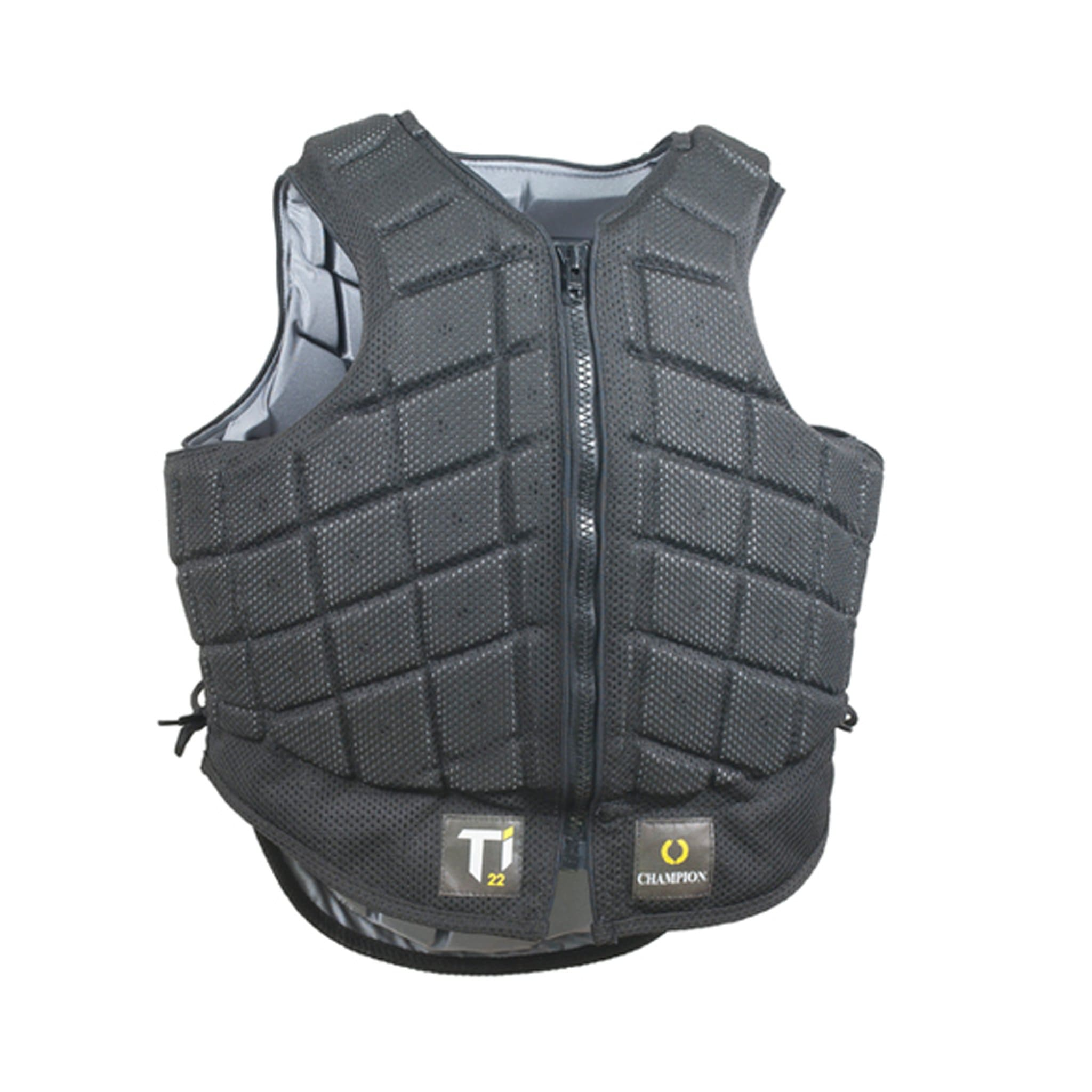 Champion Titanium Ti22 Children's Body Protector Black TI22 front