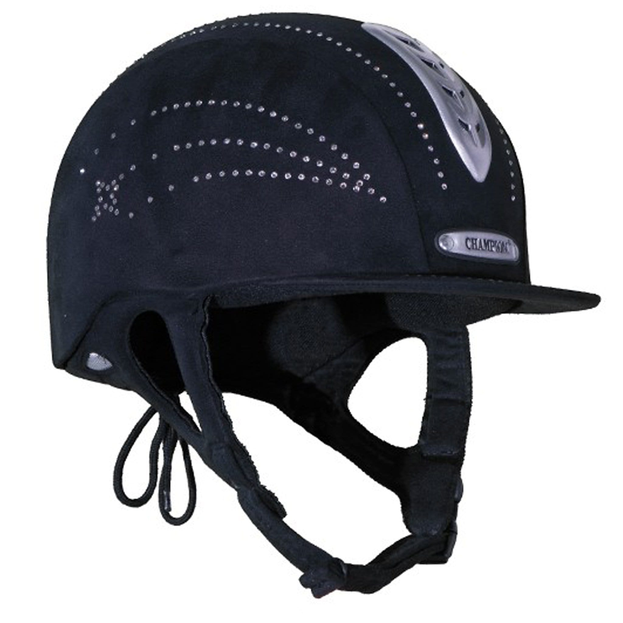 Champion X-Air Star Plus Riding Hat Right Side Black.