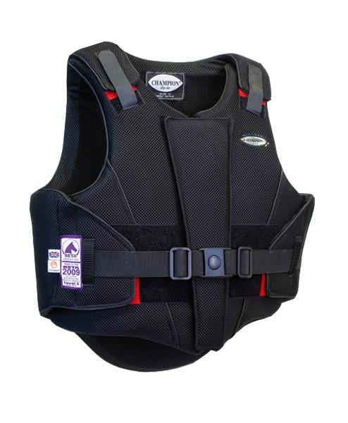 Champion ZipAir Children's Body Protector Black Front View