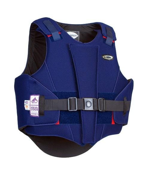 Champion ZipAir Children's Body Protector Navy Front View
