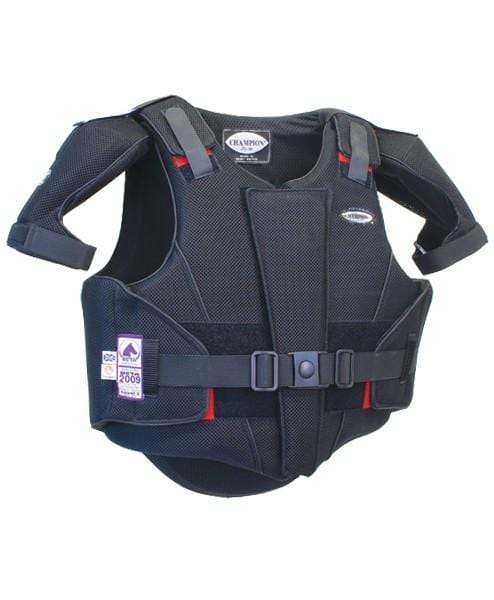 Champion ZipAir Children's Body Protector Black with Shoulder Protectors