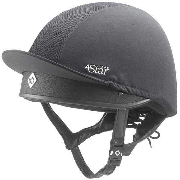 Charles Owen 4 Star Skull Cap Black