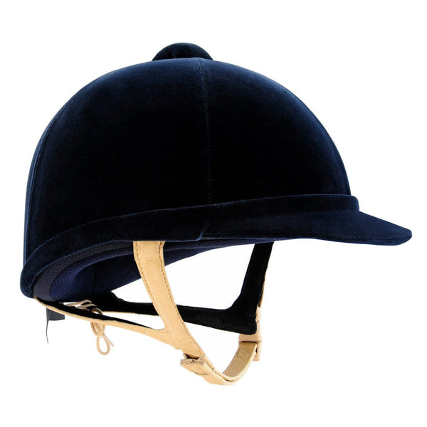 Charles Owen Hampton Riding Hat - 6 1/2 (53cm) / Navy | EQUUS