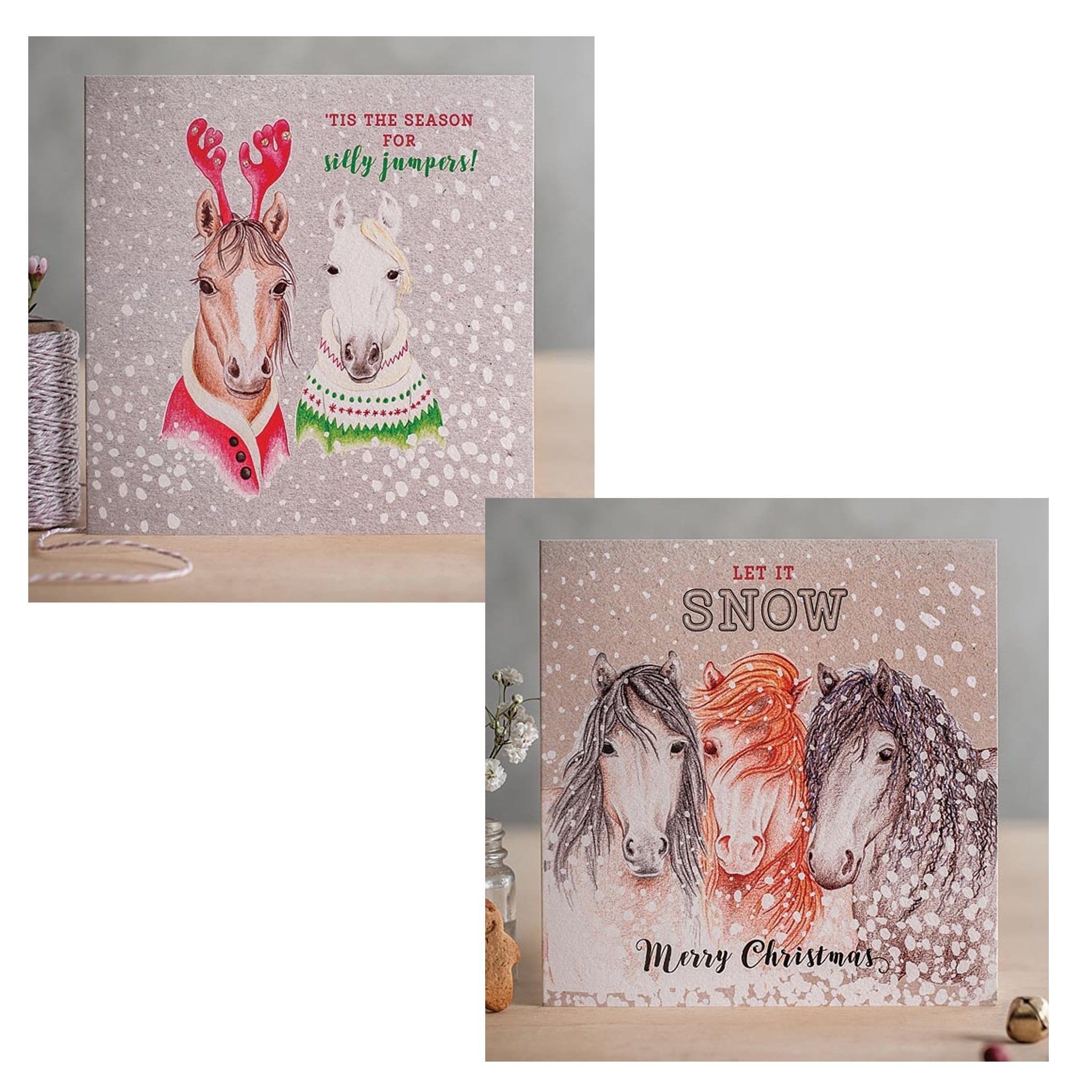 Festive Frolics Christmas Cards With Horses and Ponies