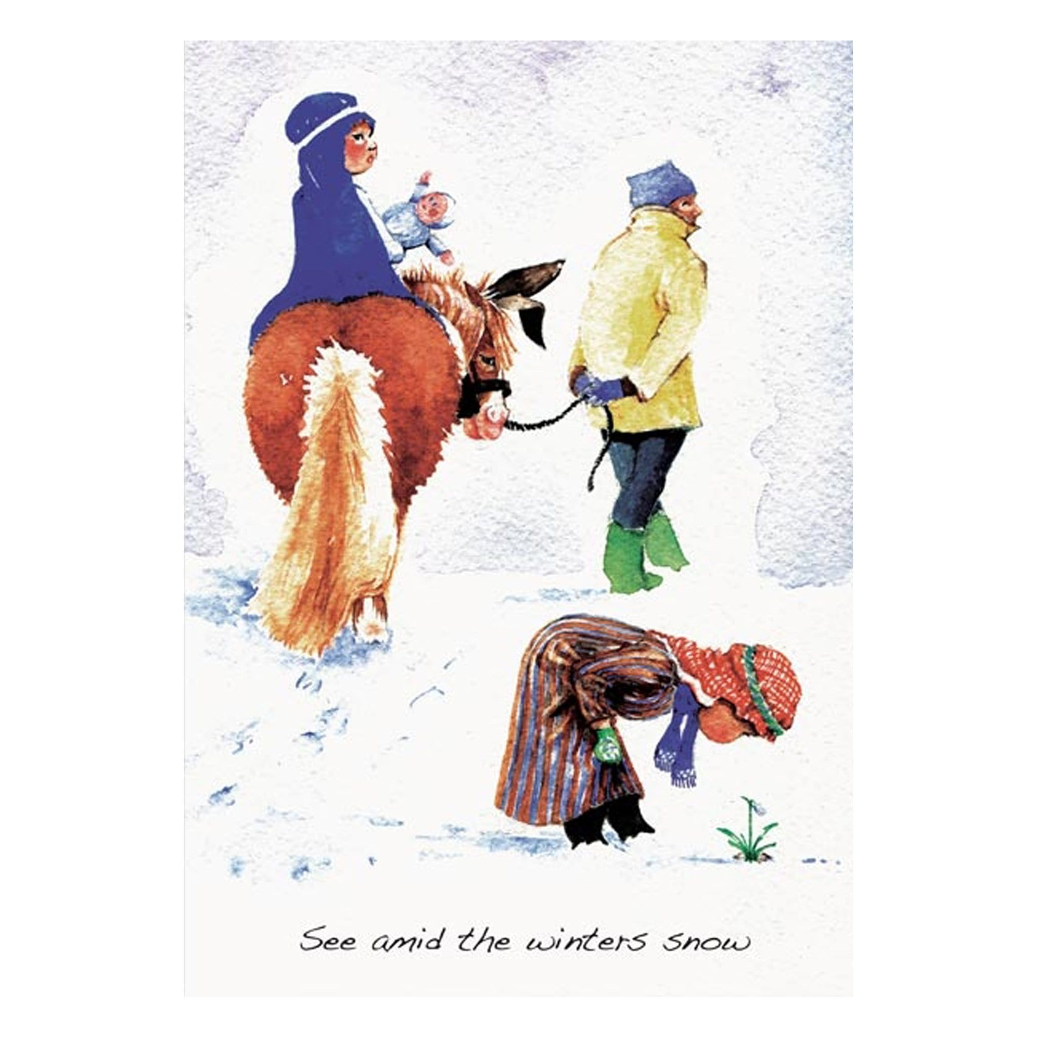See Amid the Winters Snow Equestrian Christmas Cards